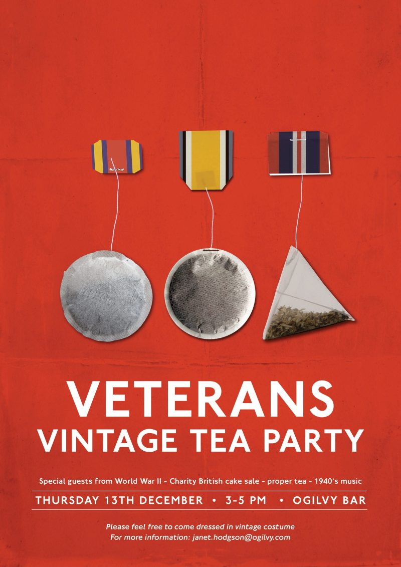 Veterans Tea Party tomorrow!